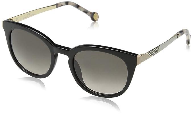 Carolina Herrera Mujer SHE747 Gafas de sol, Negro (Shiny ...
