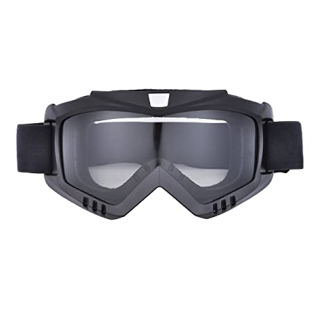 Amazon.com: CHCYCLE motorcycle motocross face mask with detachable Goggles(silver): Automotive