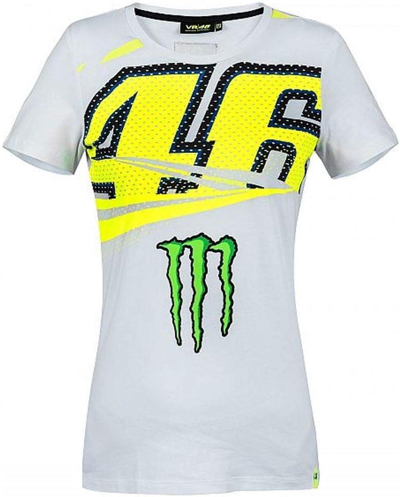 Valentino Rossi VR46 Moto GP Monza Mujer Camiseta Oficial 2018: Amazon.es: Deportes y aire libre