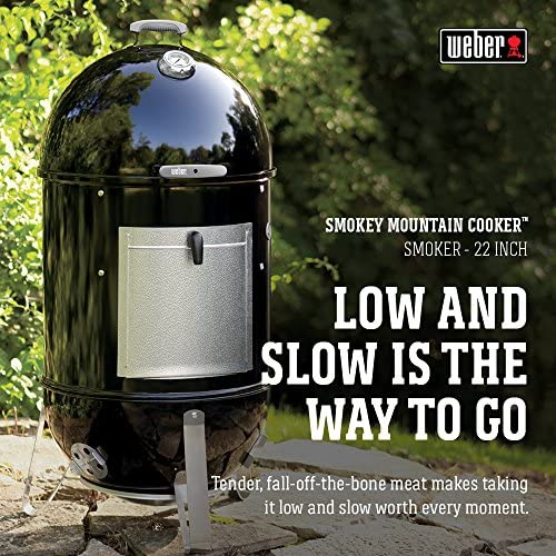 Weber 711004 Smokey Mountain CookerBarbecue à Charbon Noir