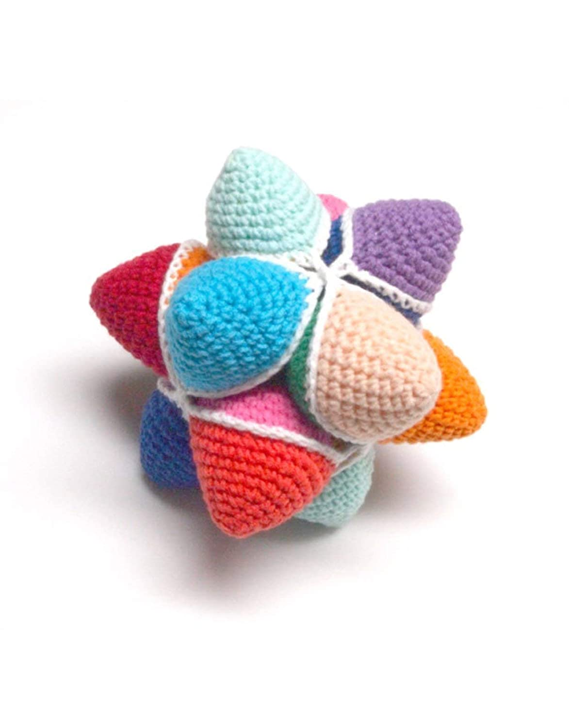 Amish Puzzle Ball Instructions.Amazon Com Crochet Rattle Star Toys Amish Puzzle Ball For