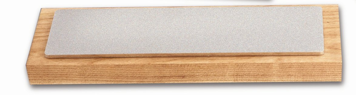 Chef'sChoice 400DS Diamond Sharpening Stone Uses Diamond Abrasives Housed in Solid Hardwood Box with Nonslip Rubber Feet Made in USA, 8-Inch, Brown