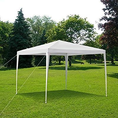 iKayaa 10 x 10 ft Waterproof Outdoor Canopy Tent Garden Gazebo for Party Wedding Camping