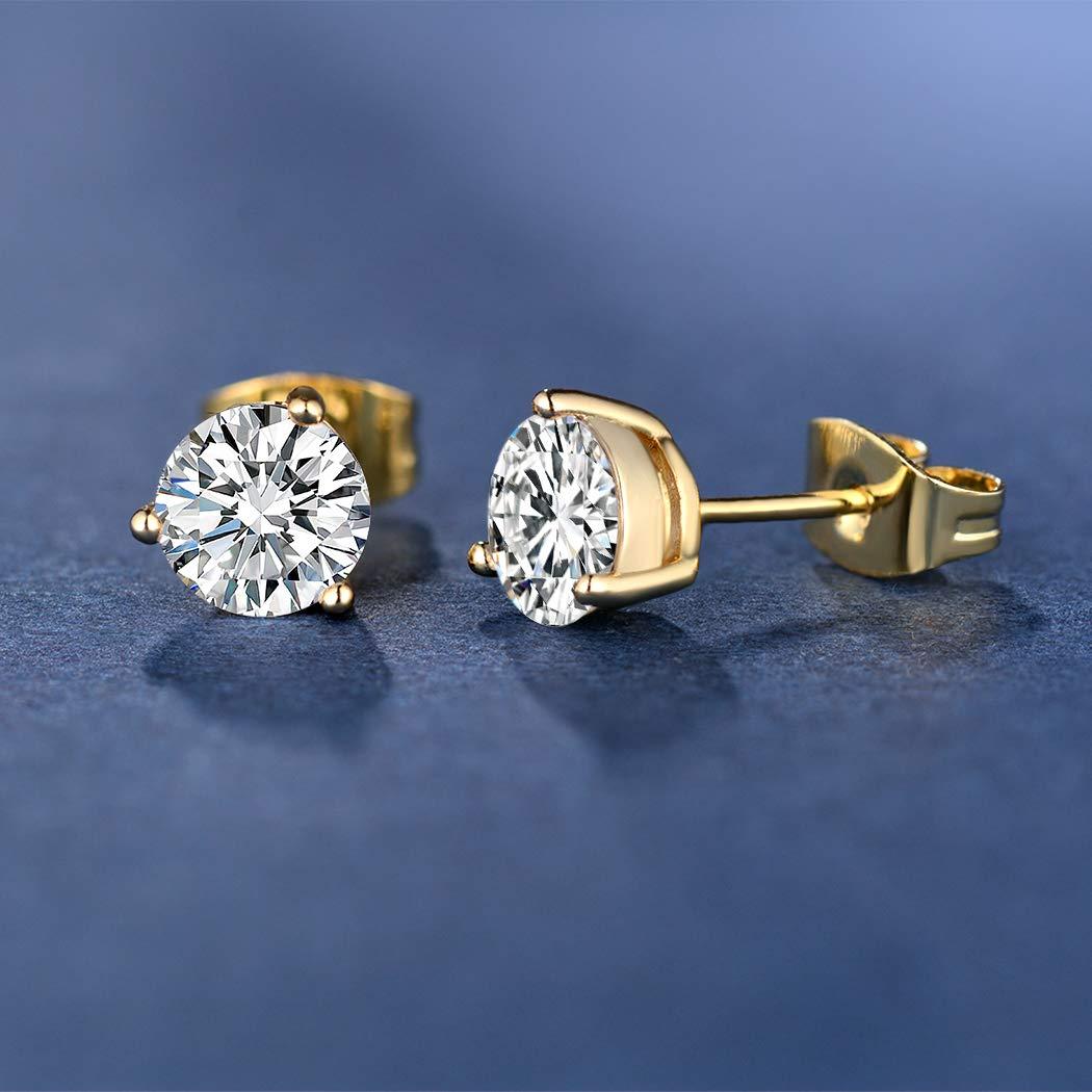 Men Assorted Size Earrings Set 18k Rose Gold Yellow Gold Plated Cubic Zirconia Opal Earrings Set Hypoallergenic For Women Men With Sensitive Ears Jewelry Elektroelement Com Mk