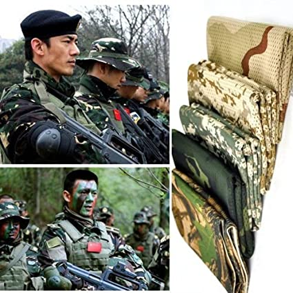 Amazona's presentz Tactical Military Style Camo Mesh Neck Scarf Scrim Net  Sniper Face Veil Airsoft Army SAS For Wargame, Sports & Other Outdoor