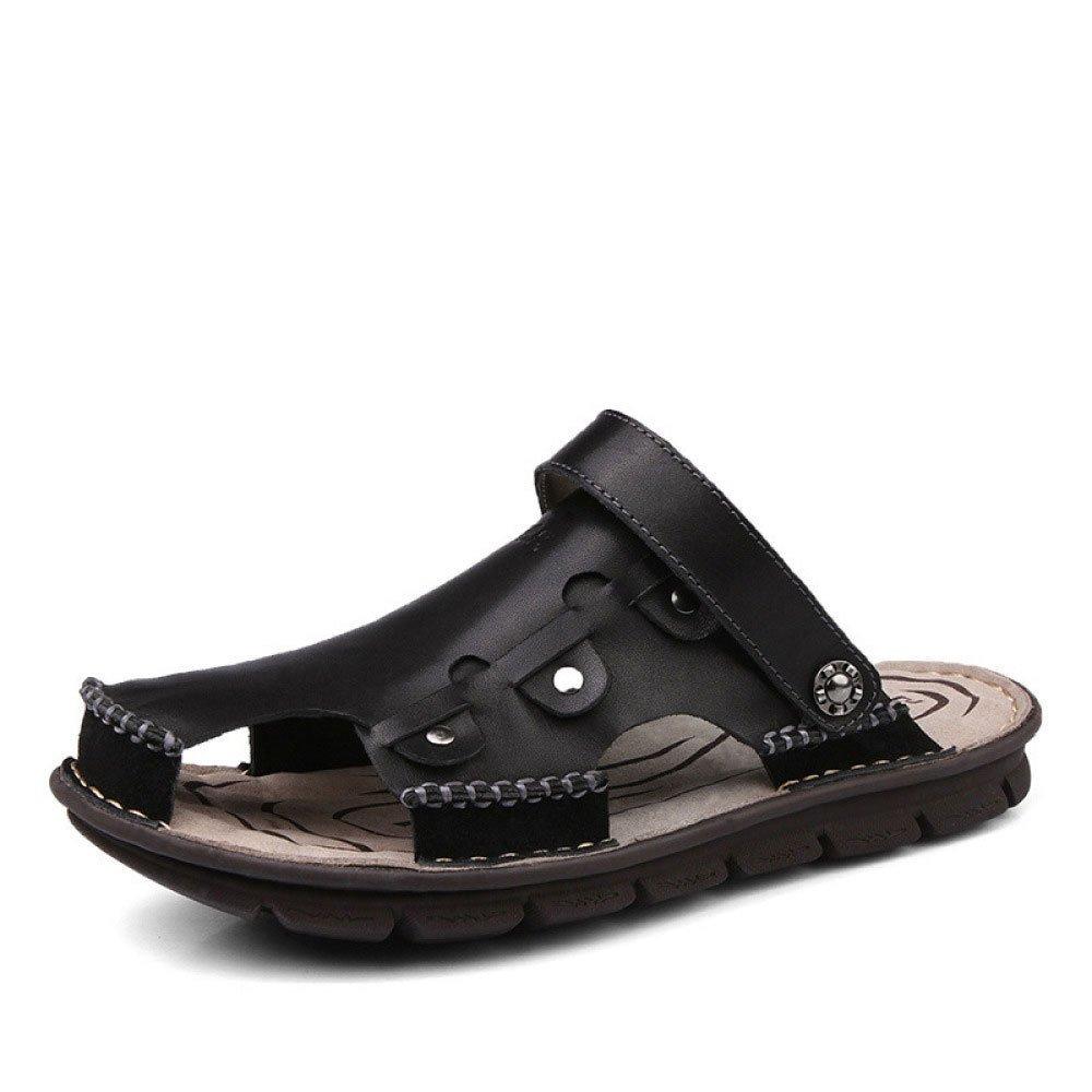Sandalias Hechas A Mano Sandalias Baotou Zapatos De Playa Transpirable Al Aire Libre 39 EU Black