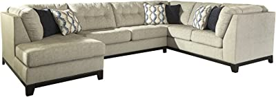 Beckendorf LAF Corner Chaise Sectional with Armless Sleeper in Chalk