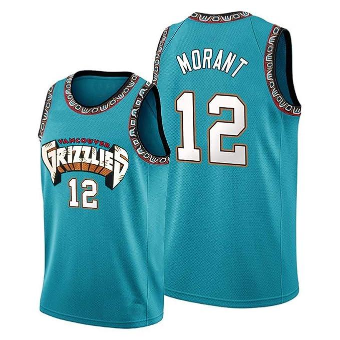 WHOME Ja Morant # 12 Vancouver Grizzlies Camiseta de Baloncesto ...