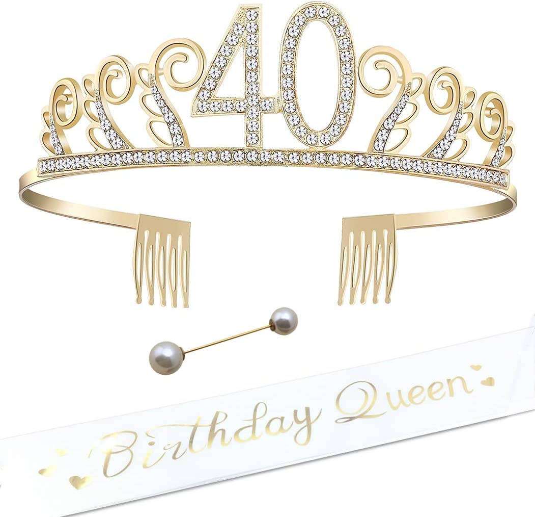 18th Pink CS/&BEAUTY 18th Birthday Gifts for Girls,Contain 18th Birthday Sash and Rhinestone Crown Tiara for 18th Birthday Party Decorations,Gift Box Packing
