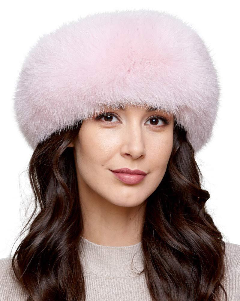 Light Pink Fox fur Headband