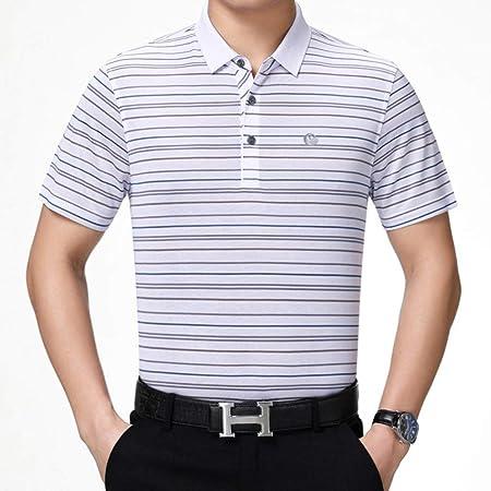 G&NAXQ Camisas de moda para hombre, casual, con solapa, con cuello de pie, para hombre, camisa