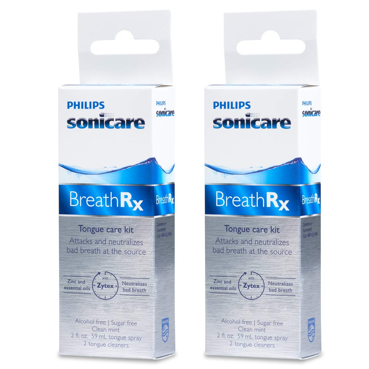 BreathRx Daily Tongue Care Kit. America's #1 Dentist Dispensed Breath Care System (Pack of 2) : Tongue Cleaners : Beauty