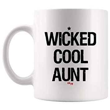 Amazoncom Wicked Cool Aunt Uncle Mother Mug Gift For Best Mother