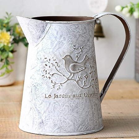 LIOOBO Vase /à Fleurs Peut Shabby Chic pichet en m/étal Chic Vase pour la d/écoration de Jardin /à la Maison