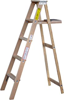 product image for 5 ft Wood Step Ladder with 200 lb. Load Capacity