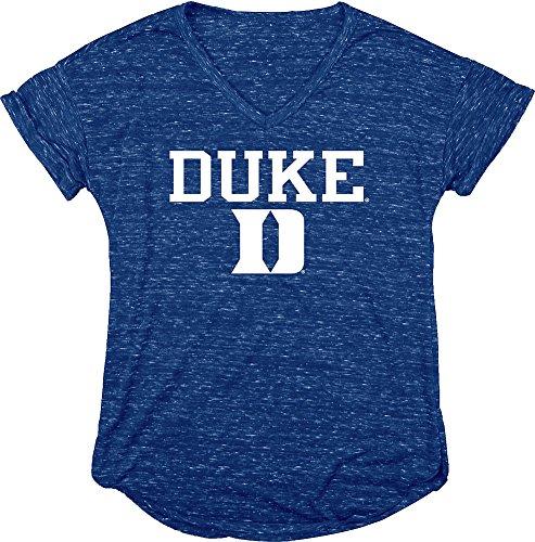 Dukes Classic T-shirt - Elite Fan Shop Duke Blue Devils Womens Vneck Tshirt Blue - XL