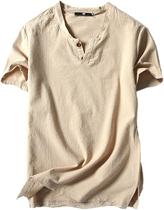 df46d30fd3f Amazon.com  Paymenow Clearance Henley Shirts for Men