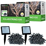 Touch of ECO SOLARSTRING100 Outdoor Patio Solar String Decorative Holiday Lights (2, White)