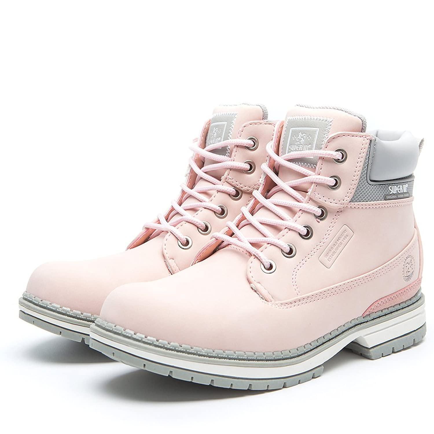 Womens Spring Flat Ankle Boots - AnjouFemme Ladies Safety Boots, Womens Lace  up Shoes, Comfortable Waterproof Boots, Best Choice for Walking Hiking and  ...