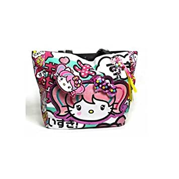 Amazon.com   Hello Kitty Japanimation Tote Bag Purse Embossed Loungefly  SANTB1073   Cosmetic Tote Bags   Beauty ad31029e1078d