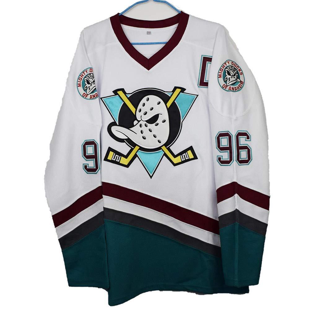 Yajun Charlie Conway #96 Mighty Ducks Film Maglie da Hockey su Ghiaccio NHL Uomo Hockey Jersey Felpe Traspirante T-Shirt Sportswears