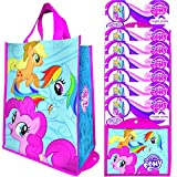 Vandor (8 Pack) Reusable Shopping Bags Bulk, Large Tote Bags For Kids and Adults, Bulk Set Foldable With Handles, For Shopping and Grocery, My Little Pony