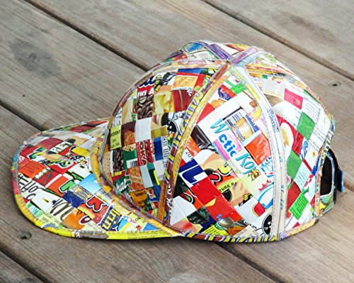 Cap hat made of candy wrappers - Free standard shipping - Upcycling by Milo