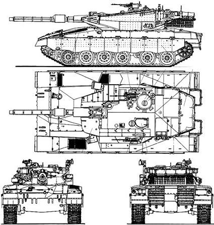amazon com merkava battle tank diagram schematic glossy poster rh amazon com