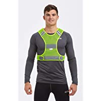 Time To Run High Visibility Lightweight Reflective Running/Cycling/Walking Bib Vest With Scotchlite 3M Yellow
