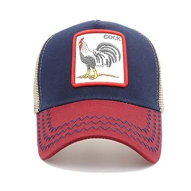 Chicken and Rooster Man Vintage Baseball Cap Unisex Adjustable Baseball Hats Dad Hat Black