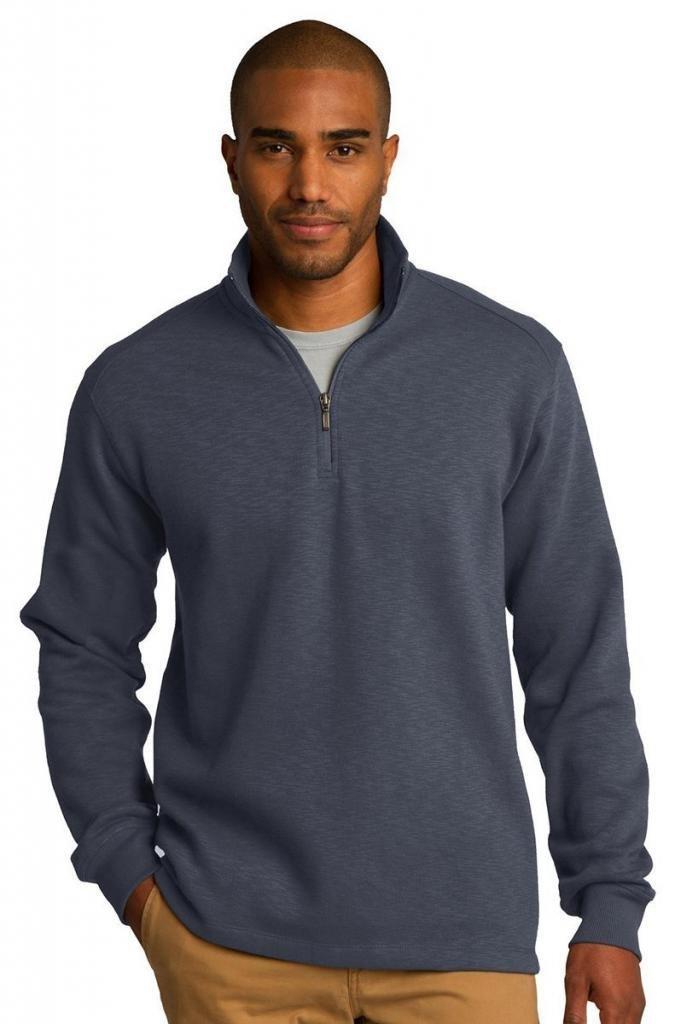 Port Authority Men's Cadet Collar Fleece 1/4-Zip Pullover Slate Grey XX-Large