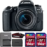 Canon EOS 77D 24.2MP DSLR Camera with 18-55mm IS STM Lens and Two 64GB Memory Cards