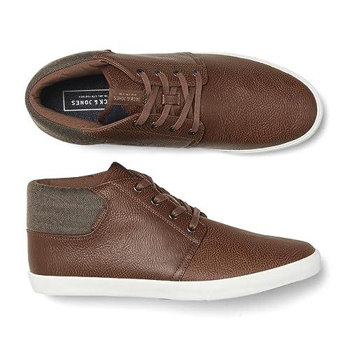 c332c52d3639b0 Jack   Jones Vertigo PU Sneakers Mix High Top Core Trainers Pumps Cognac  06-40