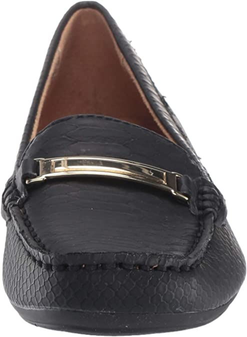 Details about  /Naturalizer Cullman Black or Parchment Leather Loafers Shoes