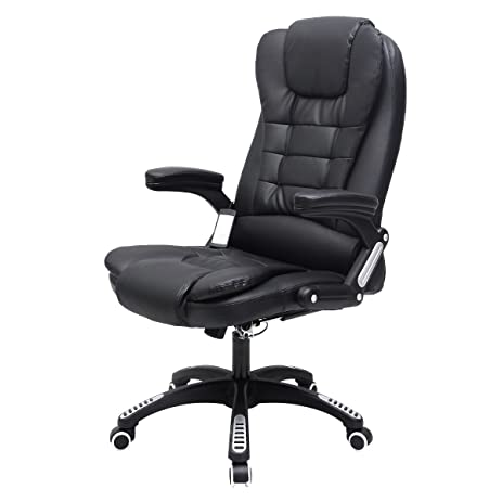 tangkula office massage chair executive ergonomic vibrating chair black