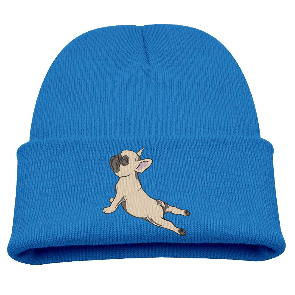Td45JS&EW Children's Comfortable Knitted Cap French Bulldog Knit Hat
