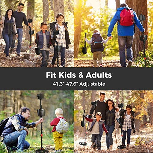 """Avid Power Metal Detectors for Adults & Kids with Back-Lit LCD Display, Pinpoint Function, All Metal & 3 DISC Modes, 3 Audio Tone, Waterproof Coil, SENS and Stem Adjustble(41.3""""-47.6""""), Carrying Bag"""