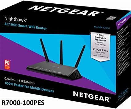 Netgear (R7000P-100NAS) Nighthawk AC2300 Dual Band Smart WiFi Router,  Gigabit Ethernet, MU-MIMO, Compatible with Amazon Echo/Alexa and Circle  Smart