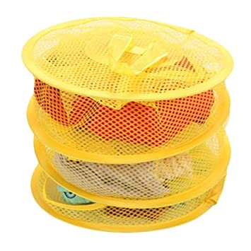 27b2765d2fa Amazon.com   HuaYang Hanging Mesh Bra Underwear Socks Storage Net 3 Shelf  Tier Semi-closed Organizer Yellow   Baby