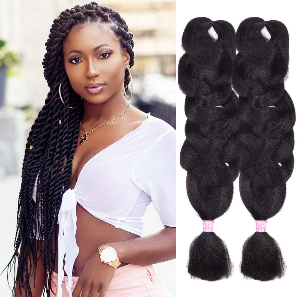 Amazon Com Christmas Gifts 2 Pack Jumbo Braiding Hair 2 Color Kanekalon X Pression Braiding Fiber Hair Extensions African Jumbo Braids For Twist Corchet 165g Pcs 84inch 2 Beauty