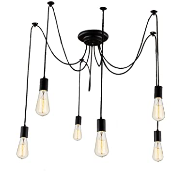 Stg 6 heads ceiling lamp hanging lighting with e26 filament edison stg 6 heads ceiling lamp hanging lighting with e26 filament edison light bulb pendant lights aloadofball Image collections