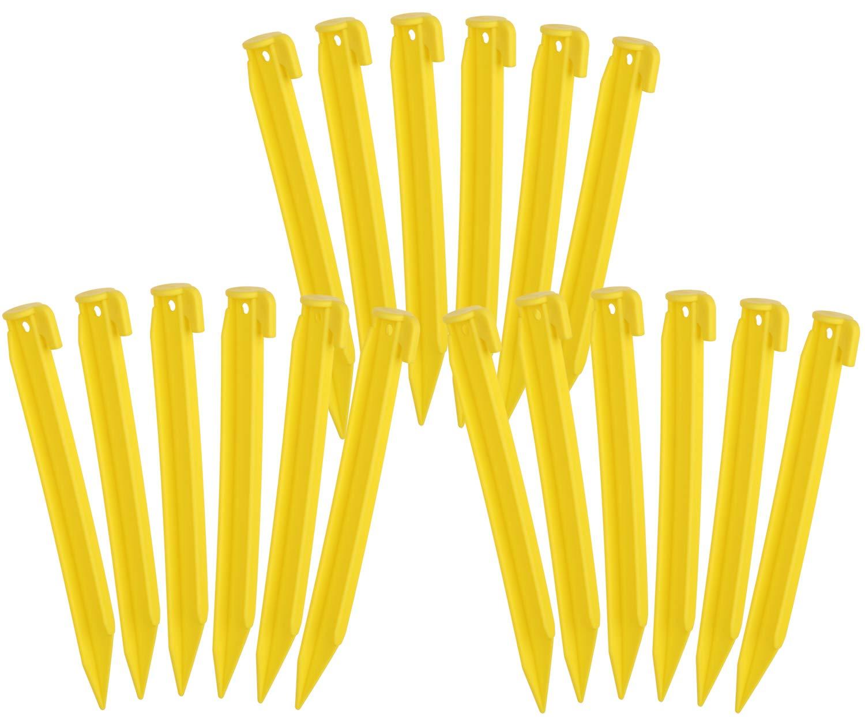 com-four/® 6X Clavijas de pl/ástico para Carpa Clavijas para Acampar y al Aire Libre Ideal para Suelo Normal