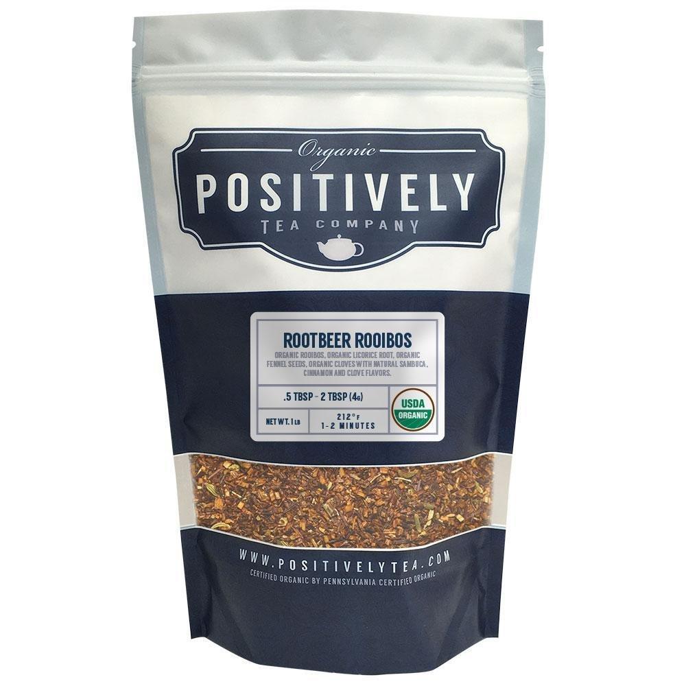Positively Tea Company, Organic Root Beer Rooibos, Rooibos Tea, Loose Leaf, USDA Organic, 1 Pound Bag by Organic Positively Tea Company