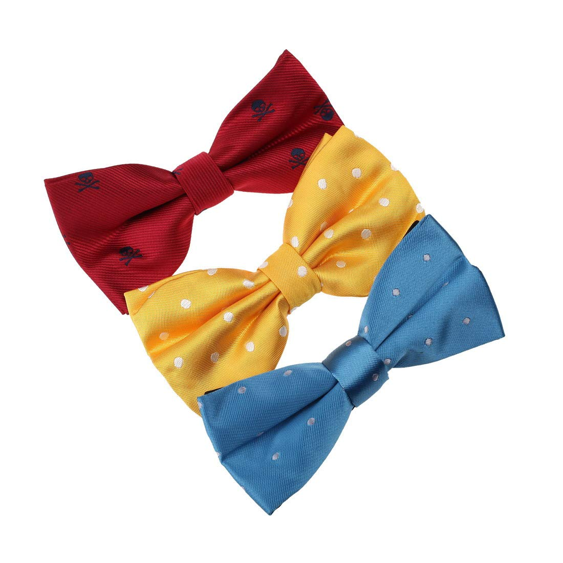 DBE0146 Perfect Fashion Microfiber Bow ties Presents For Gentlemen 3 Pack Bow Tie Set By Dan Smith
