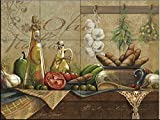 Ceramic Tile Mural - Olio d Olive- by Janet Stever - Kitchen backsplash/Bathroom shower