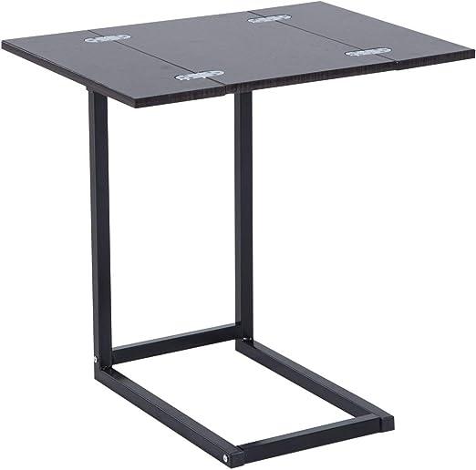 Homcom - Mesa de bandeja de mesa plegable extensible plegable ...