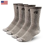 4pairs Merino Wool Socks 4 X Heather Brown Large