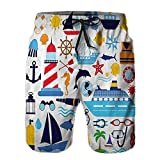 Big Boys'Throttled Boardshorts,ving Equipment Scuba Life Jacket Suns Shorts
