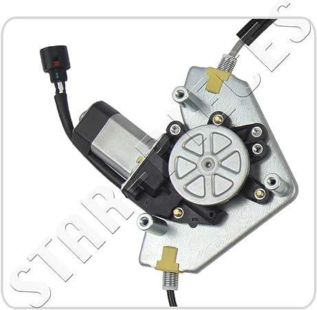 STARKIT PERFORMANCE Elevalunas el/éctrico delantero derecho copiloto con motor para Renault Clio 2 A partir de 1998-4 /& 5 puertas