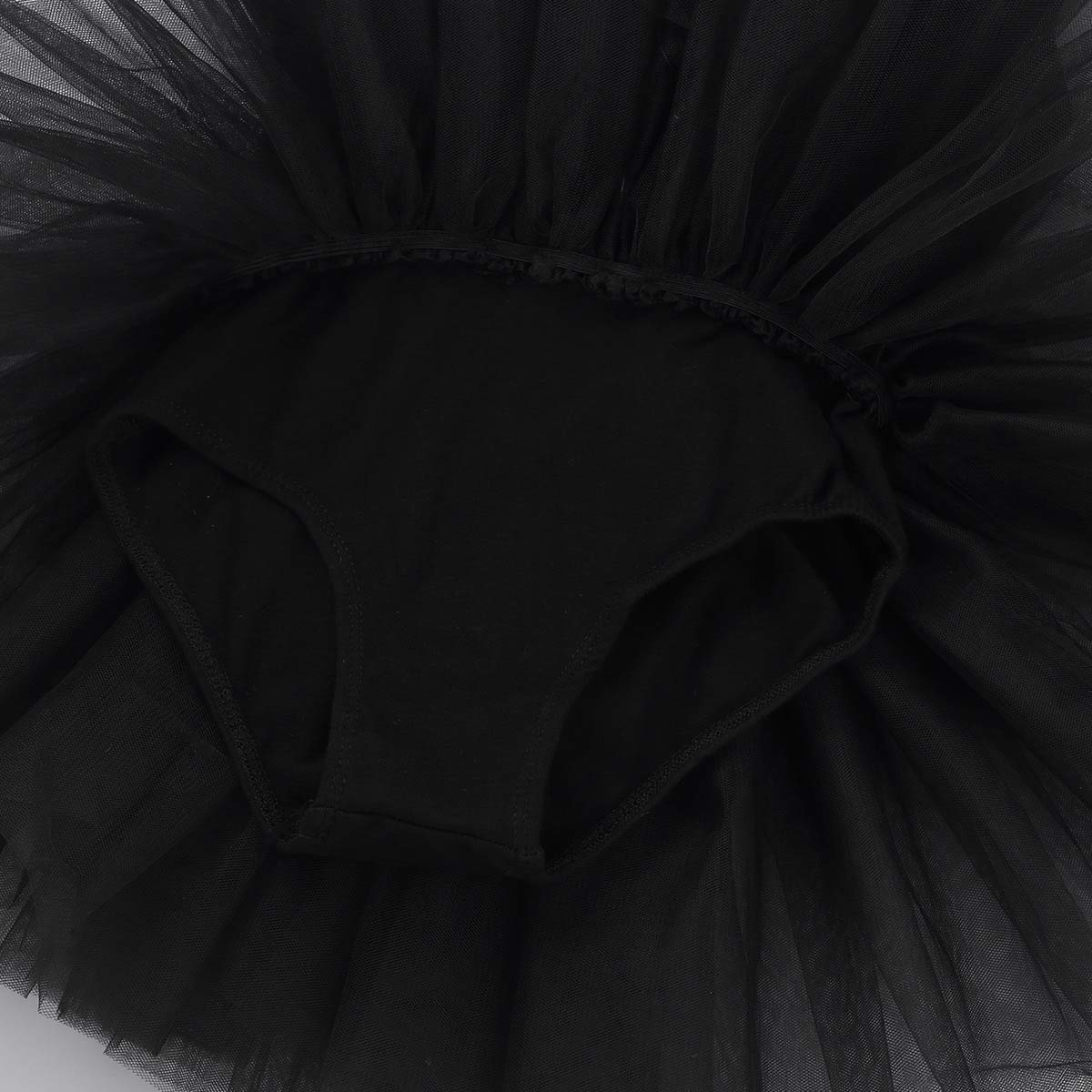 iEFiEL Bambina Leotard Vestito da Balletto Ragazza Body in Cotone Pizzo Ginnastica Danza Classica Tutu Elegante Senza Manica Aderente Allenamento Ballo Stretto 4-12 Anni